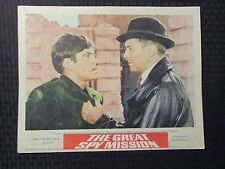 """1965 THE GREAT SPY MISSION Original 14x11"""" Lobby Card VG 4.0 Operation Crossbow"""
