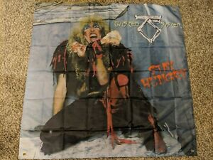 TWISTED SISTER Stay Hungry BANNER HUGE 4X4 Ft Fabric Poster Flag Tapestry Print
