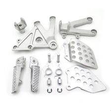 Silver Front Rider Foot Pegs Bracket Fit For Honda Cbr600Rr 2003 2004 2005 2006