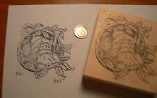 "Vintage Santa rubber stamp, WM 3x3"" P21"