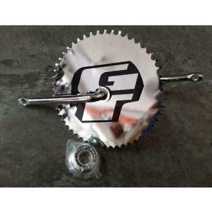 GT Power Series BMX Bicycle 1 Piece Crank Chrome Full Set Cr-Mo 52 Teeth - DHL