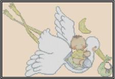 Bebé Special Delivery Stork Punto de Cruz Kit Completo No.50-117