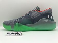 Under Armour Spawn Anatomix Low  Basketball Gray Grey Glow 3022384-100 Men's 17