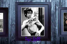 BRUCE LEE SIGNED AUTOGRAPHED 10X8 FRAMED & MOUNTED RE-PRO PHOTO PRINT