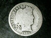 "1900 O 90% Silver Liberty ""Barber"" Head Dime Coin! FREE SHIPPING"