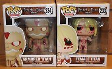 """Funko POP Attack on Titan 6"""" Armored Titan & Female Titan!!!"""