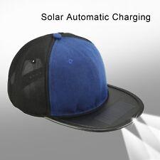 SUNBATT Hunting Hat Fishing Cap with Solar Rechargeable Power LED Lights for Men