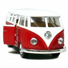 "5"" Kinsmart Classic 1962 Volkswagen Bus Van Diecast Model Toy 1:32 VW- Red"