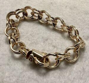 Vintage Ladies 14 Kt. Solid Gold Link Bracelet, NEW (NOS) 50.76 grams