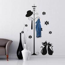00095 Adesivi Murali decorazione Stickers Appendiabiti con 3 ganci 120x60 cm