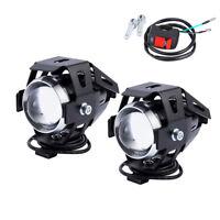 2x 125W U7 LED Moto antibrouillard Feux Avant Brouillard Lampe Commutateur BA