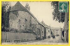cpa MORET sur LOING (Seine et Marne) EGLISE de PONT LOUP Avenue de SENS Attelage