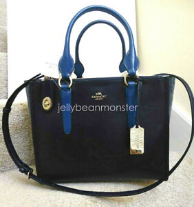 COACH 36571 CROSBY COLORBLOCK EXOTIC EMBOSSED LEATHER CARRYALL BAG PURSE SATNEW