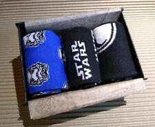 LUXURY STAR WARS MENS GIFT BOXED SOCKS 3 PAIRS STARWARS MENS UK 7-11 / EUR 40-46
