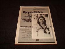 RAQUEL WELCH in LEGEND OF WALKS FAR WOMAN 1982 Emmy ad Bradford Dillman