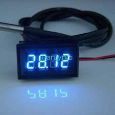 4 digital led thermometer Temperaturanzeige ds18b20 Sensor 12V 24V water Auto B