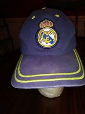 Real Madrid Soccer Club Ball Cap in Navy Blue Yellow One Size Gently Worn