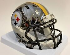 PITTSBURGH STEELERS CHROME Alternate Speed Riddell NFL Football MINI HELMET NEW