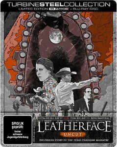 Leatherface 4K UHD + Blu Ray Limited Steelbook Metalpak Uncut Import New/Sealed