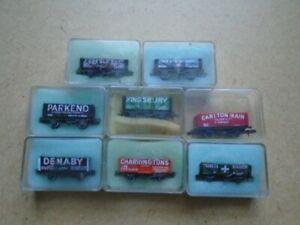 8 Peco Private Owner Wagons - N gauge Gresley, Parkend, Denaby ,Kingsbury, et al