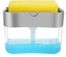 New ListingDish Soap Dispenser for Kitchen,Sponge Holder Sink Dish Washing Soap Dispenser