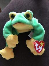 Ty Beanie Baby Frog Smoochy Bdate October 1 1997 Original Retired w Tag Errors