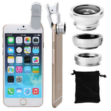 Fisheye Grand Angle Macro Selfie Zoom Lentille Argent Pour iPhone 5 S 6 S 6 PLUS DC264S