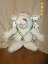 """17"""" BABY LAMB CHOP PUPPET PLUSH GREEN EVERY TIME A BELL RINGS ANGEL GETS WINGS"""