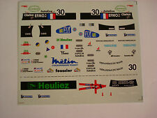DECALS KIT 1/43 WR PEUGEOT TEAM WALTER RACING 24h LE MANS 2001 N.30 DECALCOMANIA