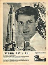 PUBLICITE ADVERTISING  1958   PENTO    entretien des cheveux