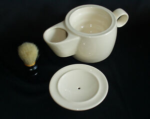 Shaving Mug Bowl Scuttle in Creamware
