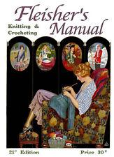 Fleisher's Knitting & Crocheting Manual #21 c.1924 HUGE Book of Vintage Patterns