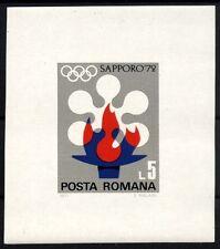 1155 Romania 1971 Winter Olympic Games Sapporo Block MNH