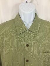 Jamaica Jaxx Men's XL Short Sleeve Button Front 100% Silk Shirt