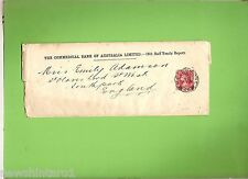 #D152. 1900 POSTING SLEEVE FOR AUSTRALIAN BANK REPORT, VICTORIA TO ENGLAND