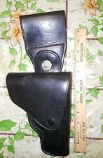 Vintage S59 9mm Safety Speed SwivelBlack Leather Holster Closed Nose Montebello