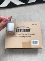 🍀 ‡ Eastland Votive Glass Candle Holders 12 Set Dozen Wedding Event Home 1100