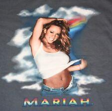 M * NOS vtg 2000 MARIAH CAREY Rainbow tour t shirt * rap r&b