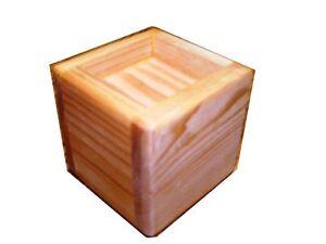 Solid Wood Bed Lifter Desk Riser Set of 4 For 2 x 2 Furniture Leg + Felt Lining