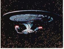 Star Trek USS Enterprise Signed by 4 Crew + Whoopi Goldberg 8x10 Photo * RARE