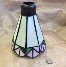 Vintage Small Stained Glass Tiffany Style Lamp Shade