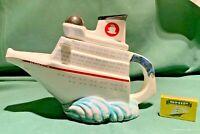 swineside teapottery  titanic cruiser  teapot bnib aka teatanic