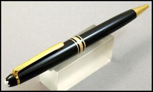 MONTBLANC MEISTERSTUCK CLASSIC PIX BLACK PRECIOUS RESIN AND GOLD BALLPOINT PEN