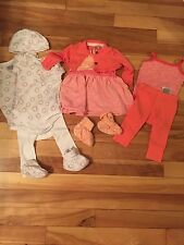 Baby Girl Lot of 10 (0-3 Months)shirts, tank top, Booties, Dress, Hat, Leggings