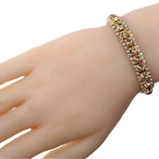 UK Ladies Elegant Silver plated Rhinestone Bracelet Bangle Jewellery Gift 1171