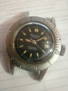 Bulova Snorkel 666 T Swiss Feet Automatic Diver 1960's Lady  (not running)