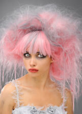 Womens Halloween Pink Zombie Princess Wig