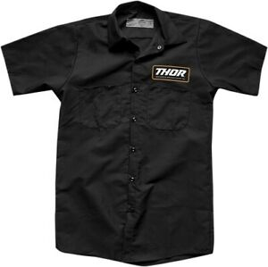Thor Men's Standard Work Button-Front Shirt Black All Sizes