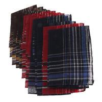 Lot de 12 Mouchoirs de Poche pour Homme à Carreaux Simples - 36 x 35cm