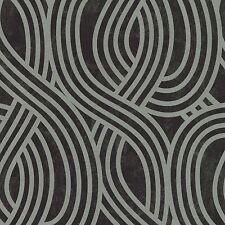 Carat Black and Silver Glitter Art Deco Wallpaper Paste the Wall Vinyl 13345-30